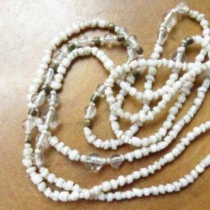 糸 オリッサブラス +ヒマラヤ水晶 白 ネックレス