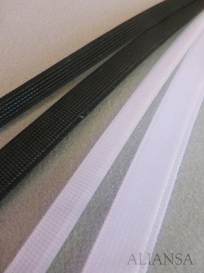 【ドレス用副資材】 ボーン(白・黒)1反(40m巻)8mm幅 コルセットやウェディングビスチェに