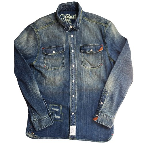 <img class='new_mark_img1' src='//img.shop-pro.jp/img/new/icons1.gif' style='border:none;display:inline;margin:0px;padding:0px;width:auto;' />DAMAGE DENIM SHIRTS