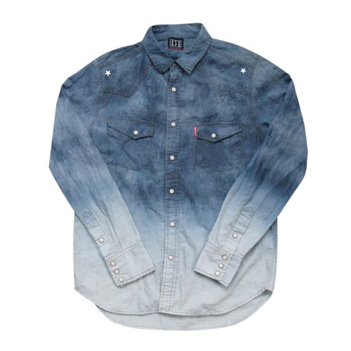 <img class='new_mark_img1' src='//img.shop-pro.jp/img/new/icons1.gif' style='border:none;display:inline;margin:0px;padding:0px;width:auto;' />GRADATION DENIM SHIRTS