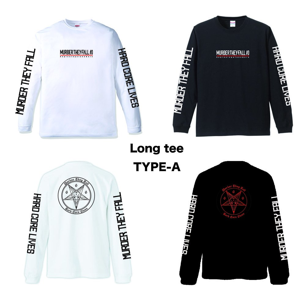 MURDER THEY FALL Long Sleeve Ts