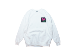 THM BAGGIES crew sweat ホワイト