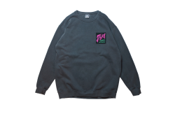 THM BAGGIES crew sweat チャコール