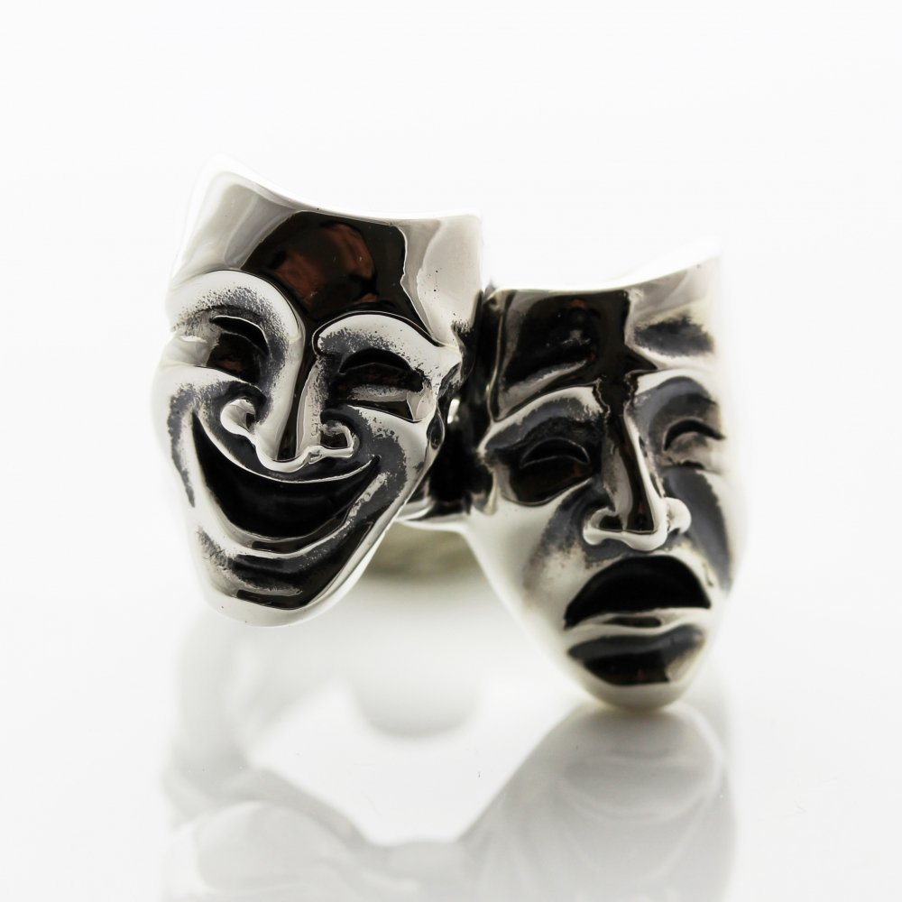 Two Face ring  /  Sterling