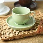 LATTE カップ&ソーサー 抹茶グリーン