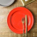 グランデ 25.5cmリム型ディナー皿 赤