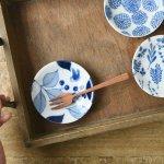 オーガニックガーデン 10cm豆皿 小鳥と木の実