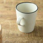 10.5cm白貫入マグカップ