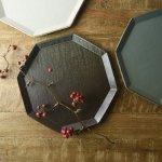 寿山窯 angle アングル 25cmプレート マットブラウン