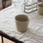小田陶器 MINORe(みのり) カップL(手なし) オリーブ