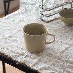 小田陶器 MINORe(みのり) カップL(手付き) オリーブ