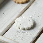 箸置き すべすべビスケット ホワイトチョコレート(白)
