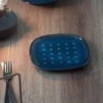 北欧ブルー 深ブルー トーストプレート(パン皿)