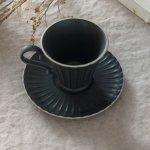 シュシュ・グレース コーヒーカップ&ソーサー クリスタルブラック
