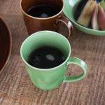 小田陶器 櫛目(kushime) 8.5cmマグカップ 緑釉