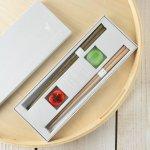 tetoca 手にとる果実 ギフト(箸・箸置きセット) 柿&梅