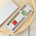 tetoca 手にとる果実 ギフト(箸・箸置きセット) 蜜柑&梅