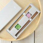 tetoca 手にとる果実 ギフト(箸・箸置きセット) 梅&桃