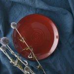 彩漆 22.5cm丸皿
