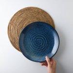 23.5cmこっくりブルーの大皿