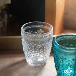 Flowerdropグラス クリアー