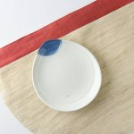 16.3cmしずく型粉引き小皿