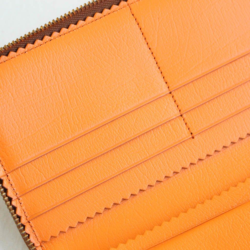 二つ折りZIP長財布 SA0110IC #BROWN/ORANGE/COLOUR INSIDE [8R-D011-051]