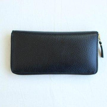 二つ折りZIP長財布 SA0110IC #BLACK/BLUE/COLOUR INSIDE [8Z-L011-051]