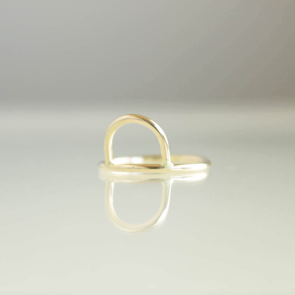 ANOTHER FEATHER | アナザーフェザー CURVE RING #14K GOLD FILL [AF-RI-05]