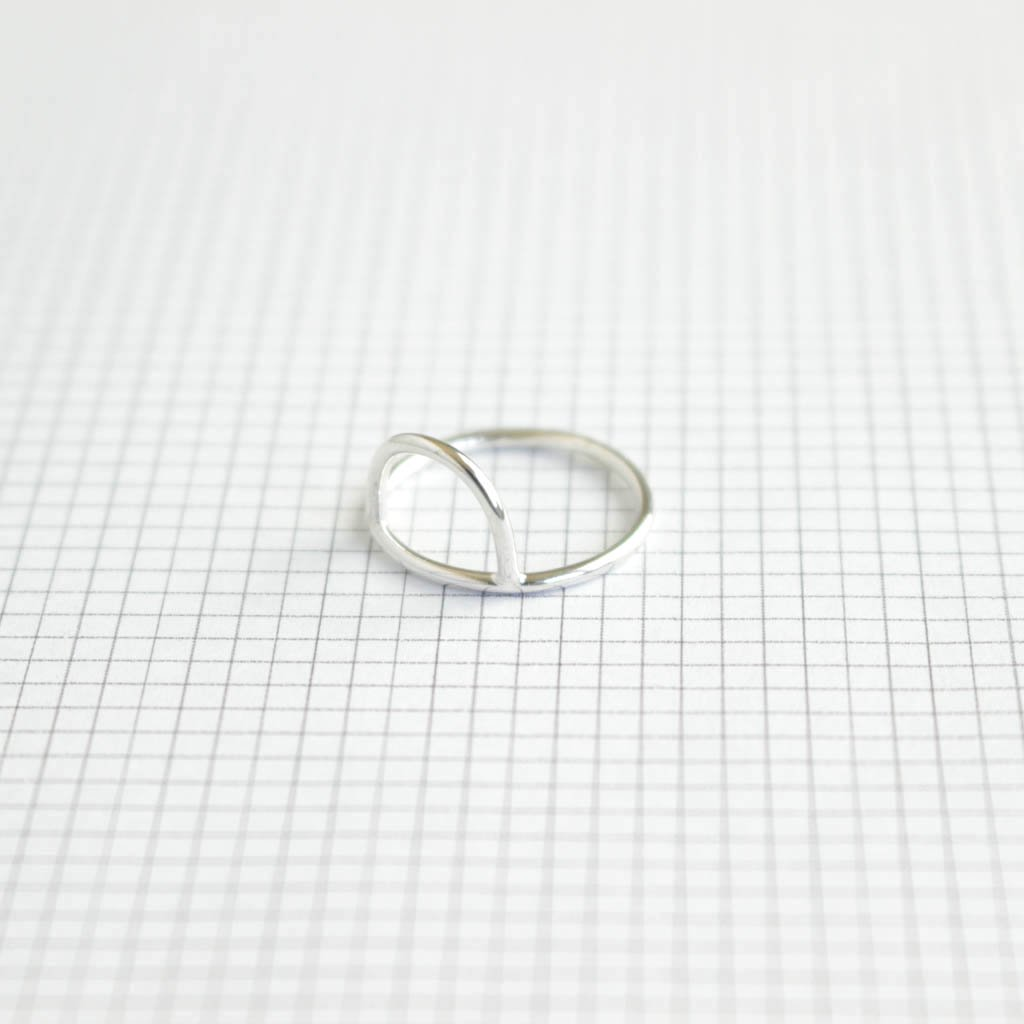 ANOTHER FEATHER | アナザーフェザー CURVE RING #recycled silver