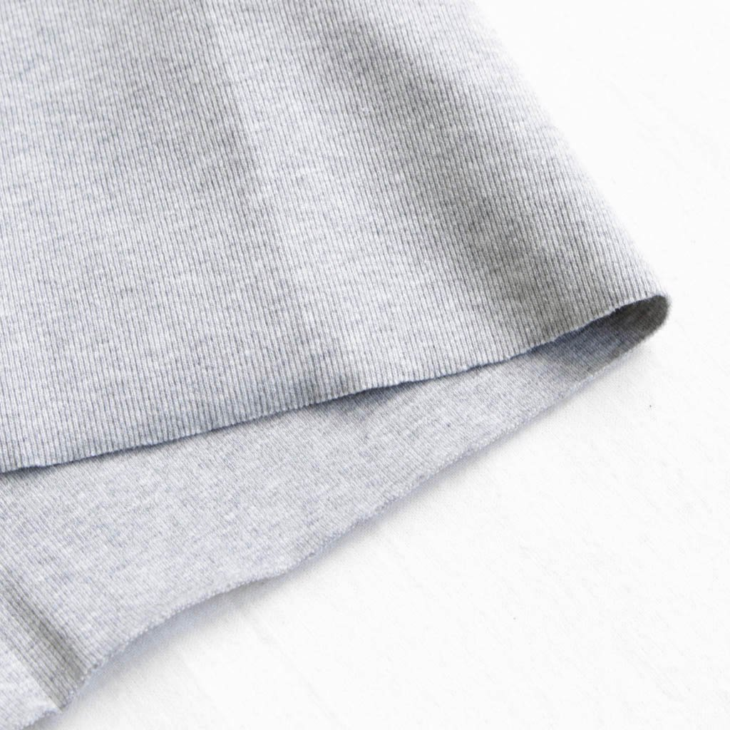 FIRMUM | フィルマム FTTT|インド綿ベアテレコ丸胴タンクトップ #grey top