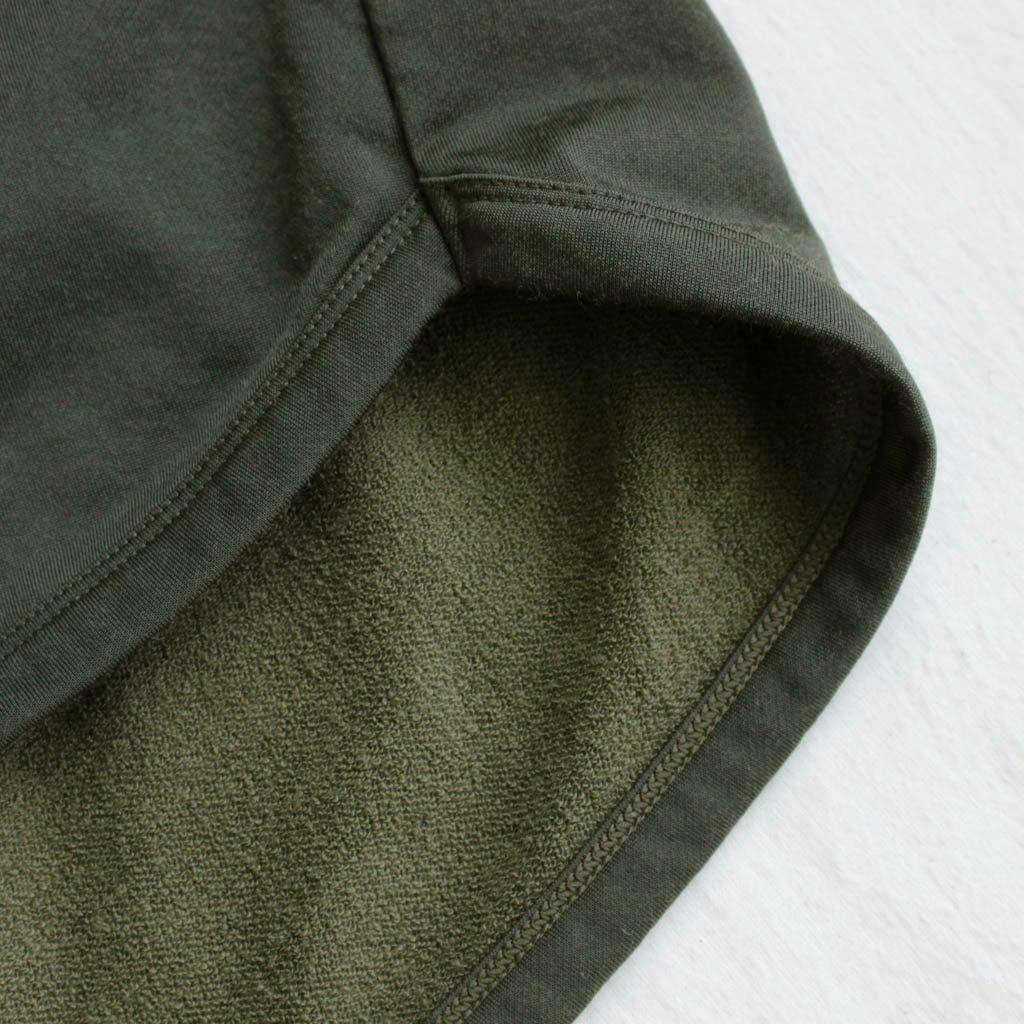 FIRMUM | フィルマム FBGT5|ナイロン&コットンミニ裏毛ハーフスリーブワイドカットソー #olive
