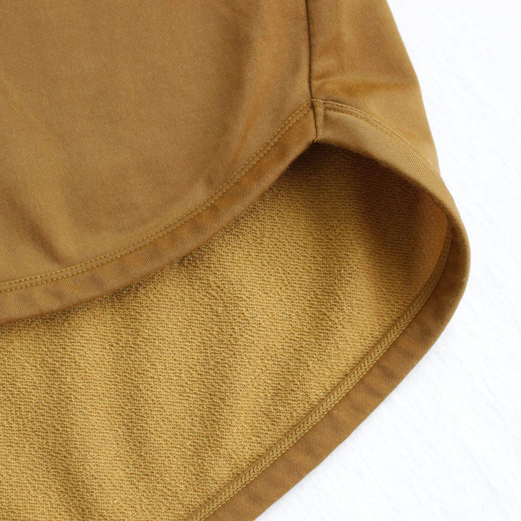 FIRMUM | フィルマム FBGT5|ナイロン&コットンミニ裏毛ハーフスリーブワイドカットソー #mustard