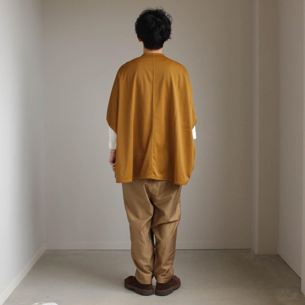 FIRMUM | フィルマム FBCD|ナイロン&コットンミニ裏毛ドルマンスリーブワイドカーディガン #mustard