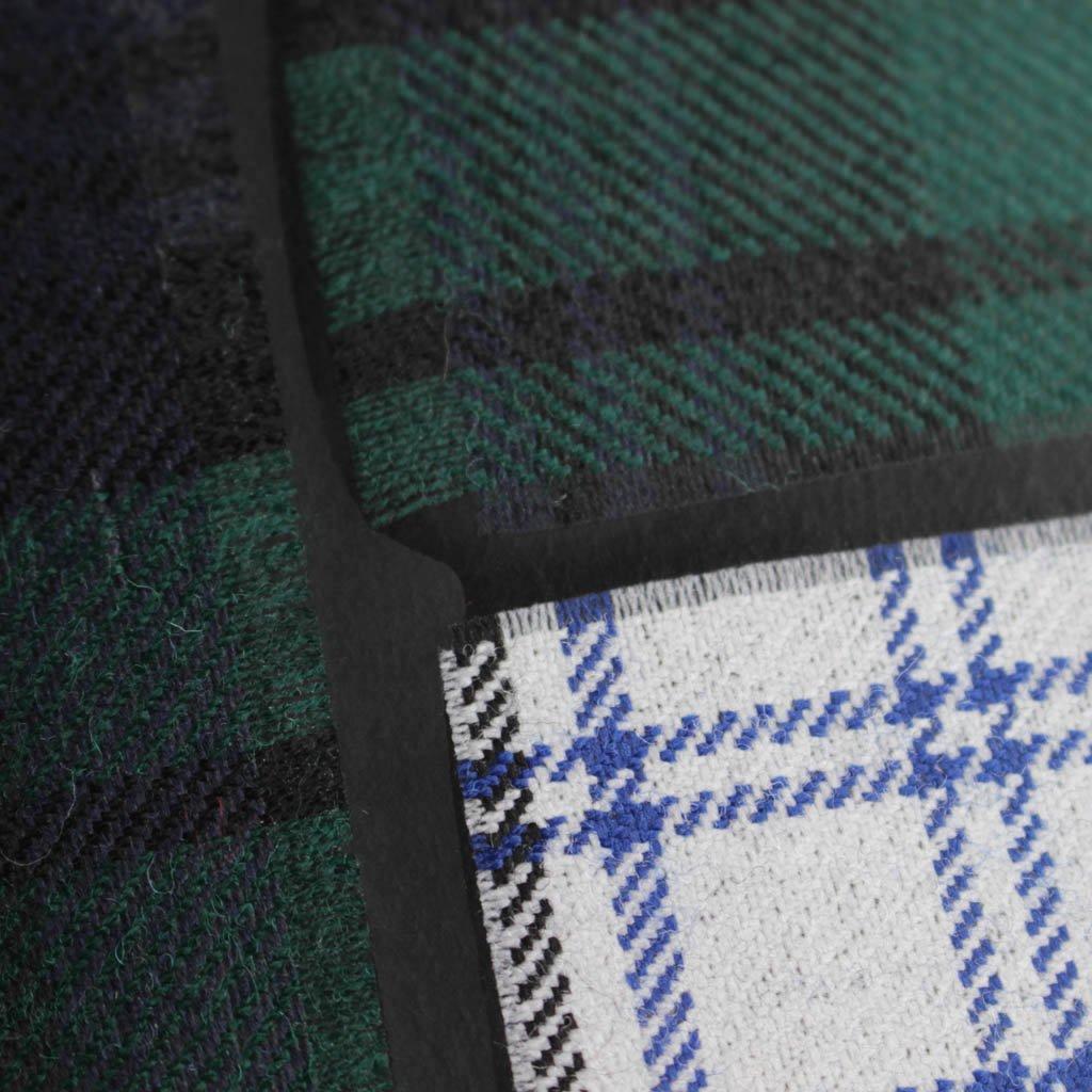 二つ折りZIP財布 SA2100TP #GREEN/TARTAN PATCHWORK [8Z-N021-051-2]