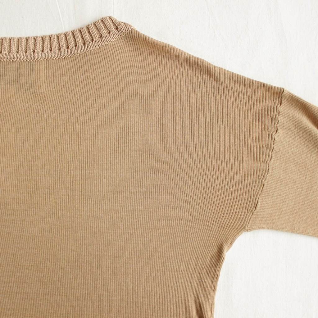 TICCA | ティッカ コットンシルクニットビッグプルオーバー #beige