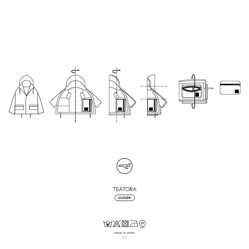TEATORA | テアトラ SOUVENIR HUNTER S/L - PACKABLE3.0 #NAVY [tt-104SL-P]