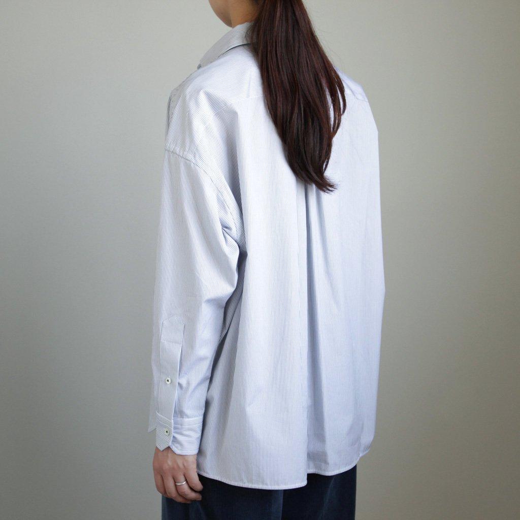 TICCA | ティッカ スクエアビッグシャツP/O #pencil stripe