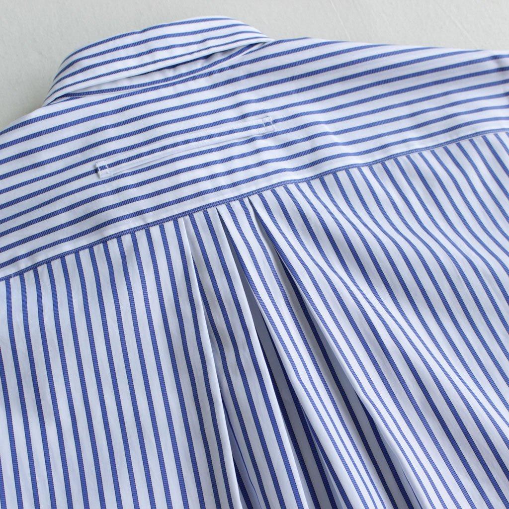 スクエアビッグシャツ #BLUE WIDE STRIPE [TAGA-300-01]