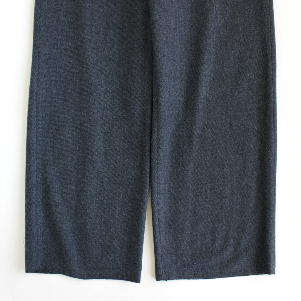AURALEE | オーラリー SELVEDGE WOOL VIYELLA PANTS #charcoal gray