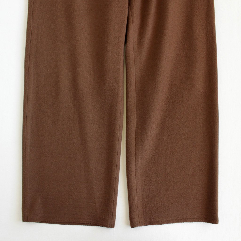 AURALEE | オーラリー SELVEDGE WOOL VIYELLA PANTS #brown