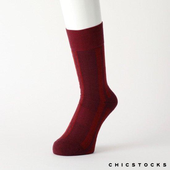 RANDOM STRIPE #BORDEAUX×WINE RED [CH-003]