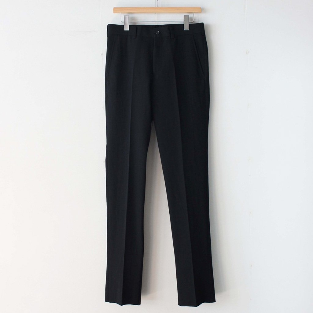 COMME des GARCONS HOMME | コム デ ギャルソン オム Wool Gaba Trousers #black [HT-P020-051]