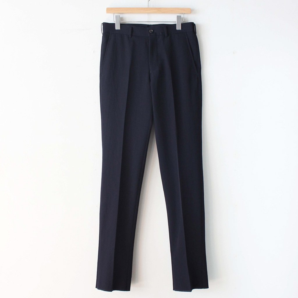 COMME des GARCONS HOMME | コム デ ギャルソン オム Wool Gaba Trousers #navy [HT-P020-051]