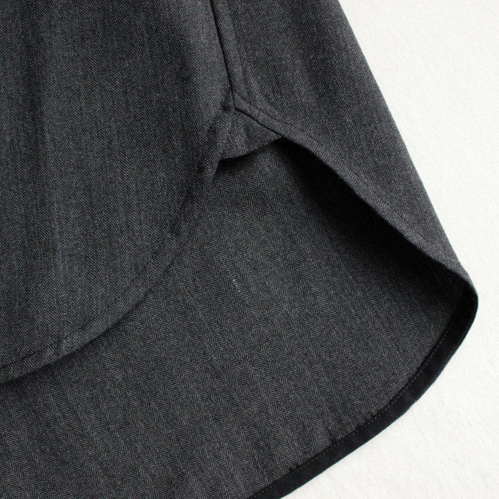 TICCA | ティッカ Wポケットシャツ #CHARCOAL GRAY/HERRINGBONE [TAGA-313-01]