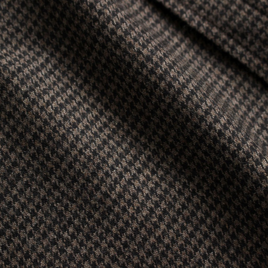Wポケットシャツ #DARK BROWN/HOUNDSTOOTH [TAGA-312-01]