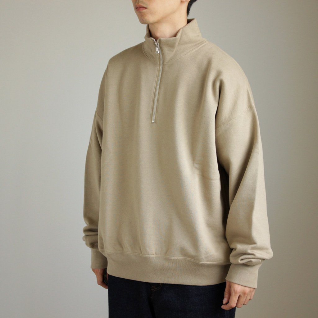 AURALEE | オーラリー BACK WOOL SWEAT HALF ZIP P/O #BEIGE