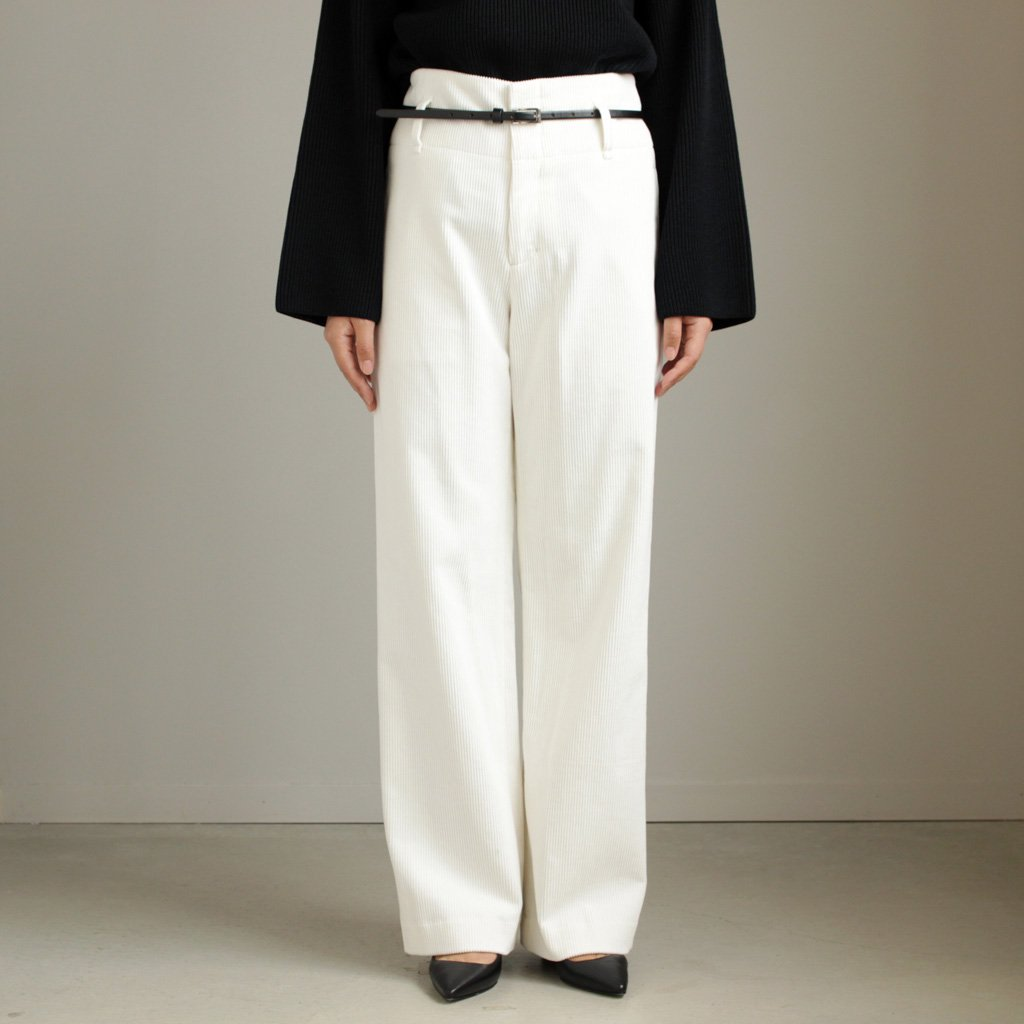 WIDE PANTS #WHITE/9W CORDUROY [PRAGHW0908]