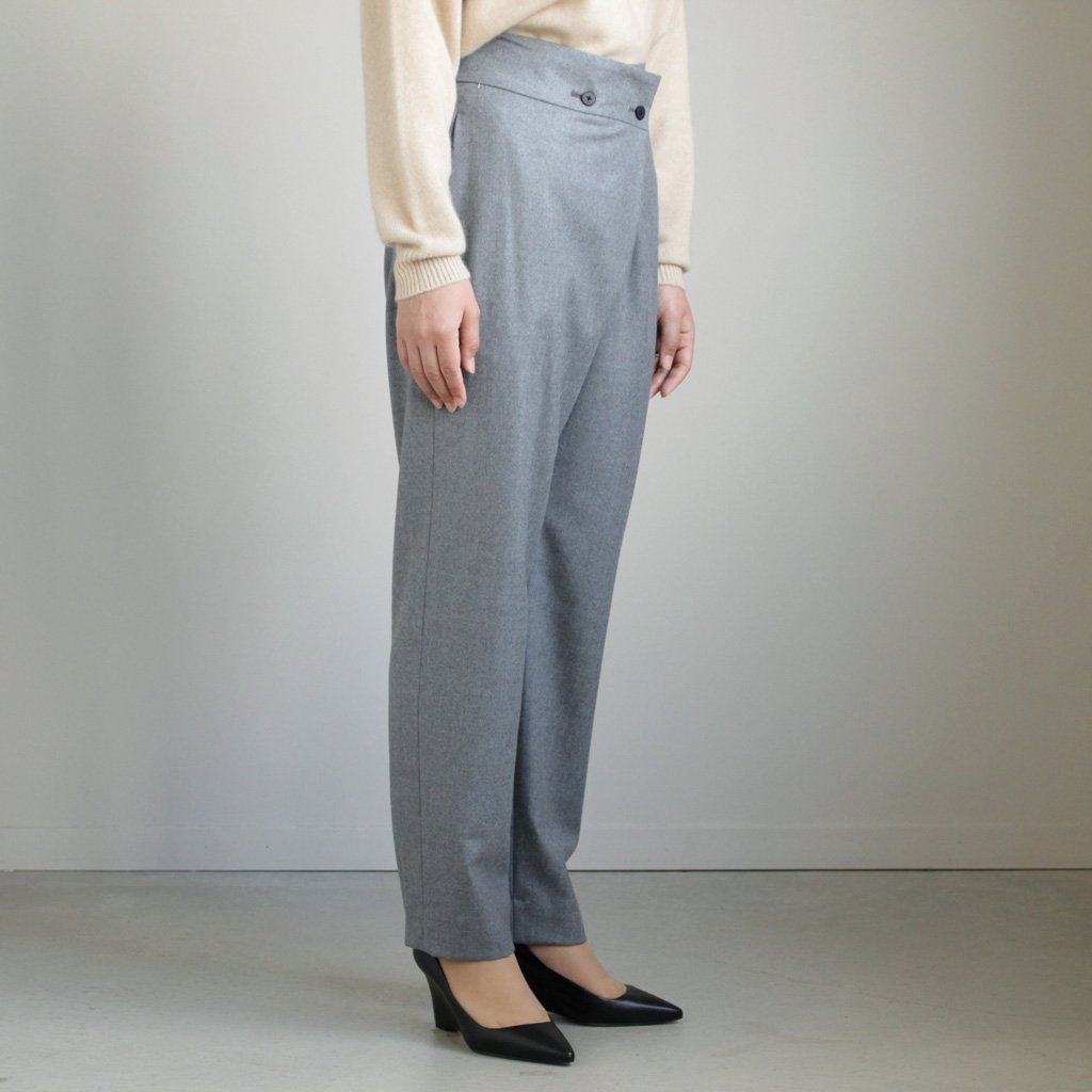 FRONT TUCK STRAIGHT PANTS #TOP GRAY/SUPER 140 FLANNEL [PRAGLW0904]