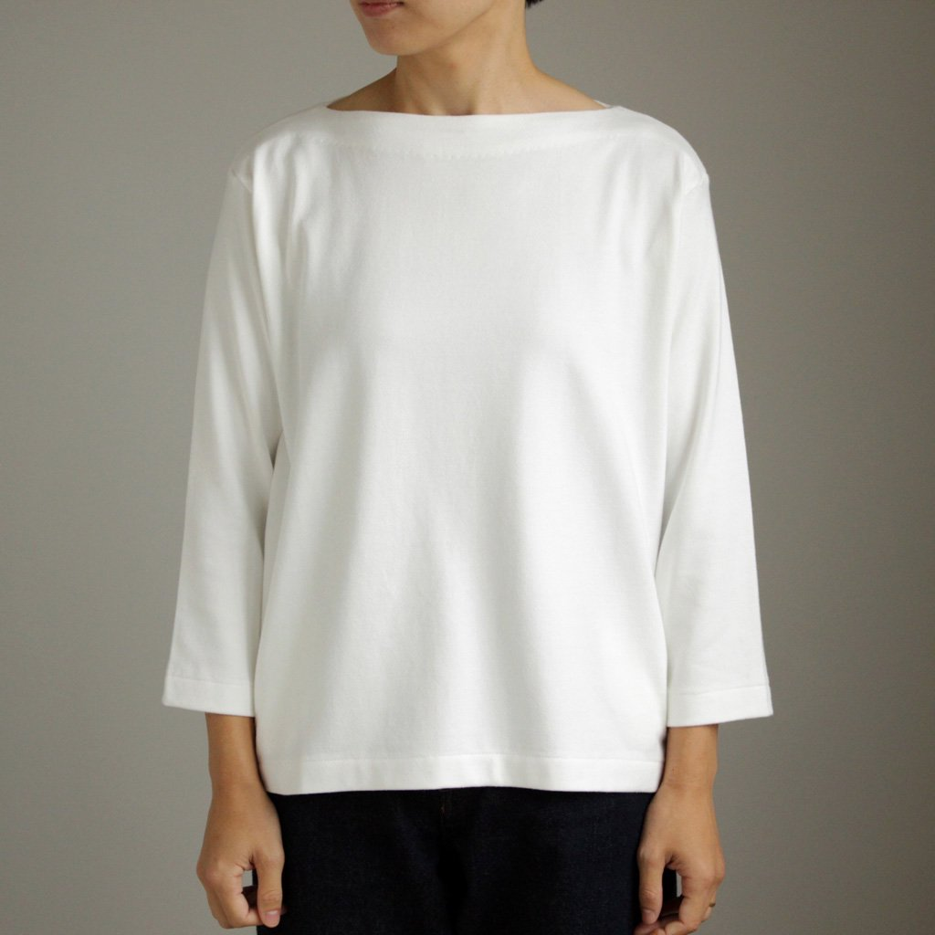 YAECA | ヤエカ BASQUE SHIRT - WIDE SHORT&POCKET #WHITE [87060]